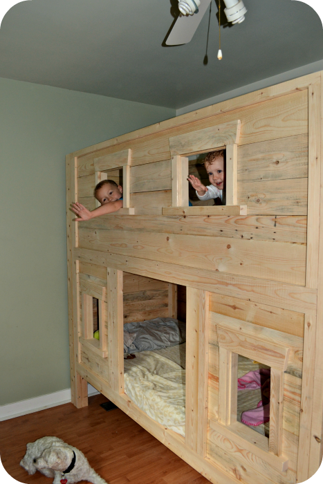 Twin Bunk Beds Cherry Wood