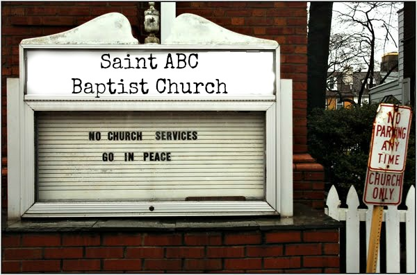 We don't actually name our churches after saints. I should have said 'Location Baptist Church'