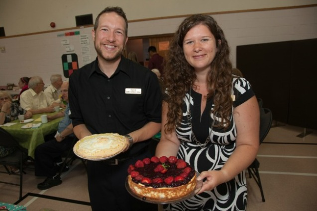 Pastor Erin and I having a grand time at our dessert auction. Thanks Snapd Dartmouth for the photo!